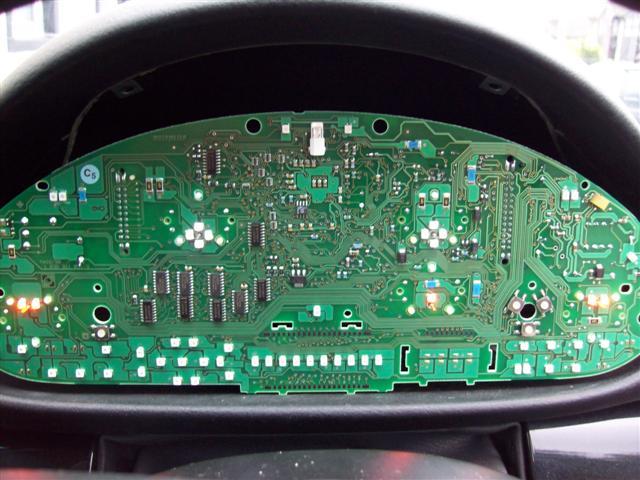 E Instrument Cluster LED Conversion Pics - Bmw e46 dashboard signs